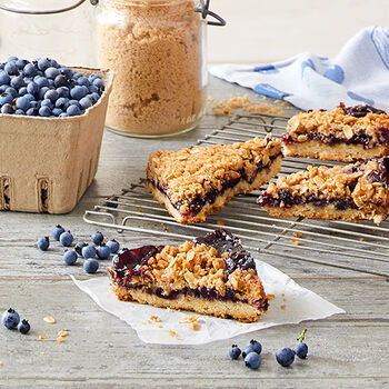Blueberry Crisp Bars