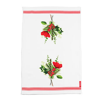 Holiday Berry Bouquet Tea Towel