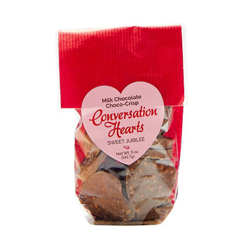 Conversation Hearts Chocolate Crisps