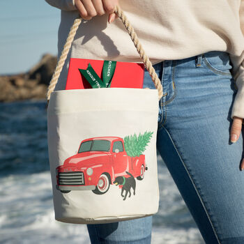 Sea Bags® Holiday Truck Bucket Bag