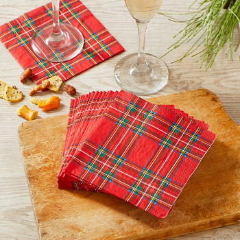 Tartan Plaid Cocktail Napkin