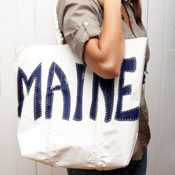 Sea Bags® Navy Maine Tote
