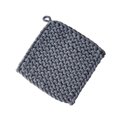 Charcoal Crocheted Pot Holder