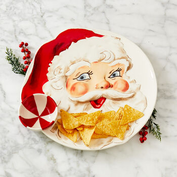 Retro Santa Chip and Dip Platter
