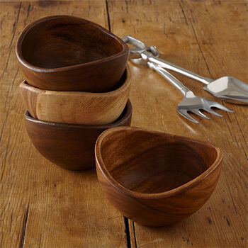Acacia Small Bowls (Set of 4)