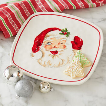 Retro Santa Cookie Platter