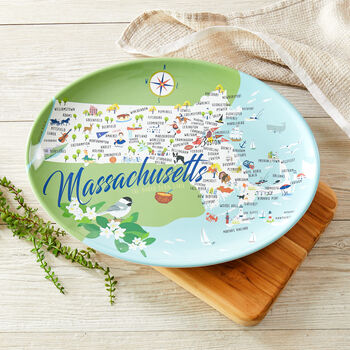 "Massachusetts 16"" Oval Platter"