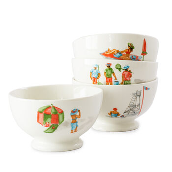 Day at the Beach Bowls (Set of 4)
