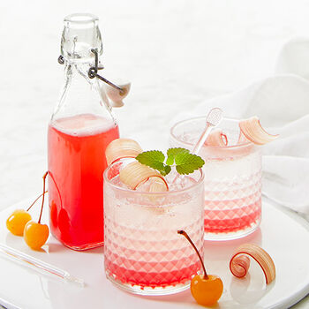 Rhubarb Cherry Shrub