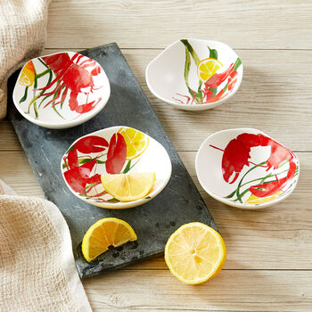 Lobster Dipping Dishes (Set of 4)