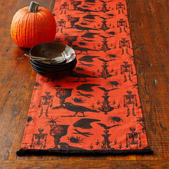 Gothic Toile Table Runner