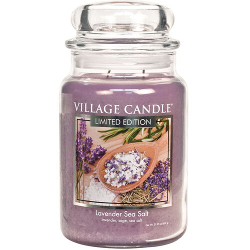 Lavender Sea Salt Candle
