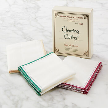 Wood Fiber Cleaning Cloths (Set of 3)