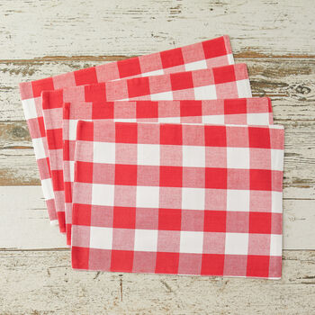 Red Picnic Plaid Placemat (Set of 4)