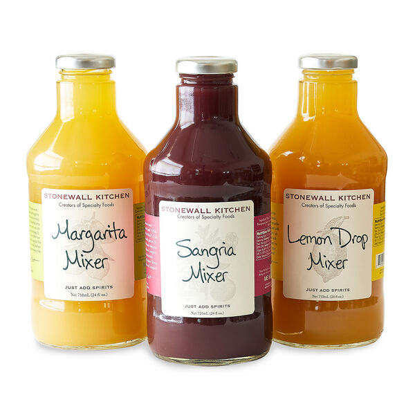 Whether for your home bar, stocking up for visiting guests or if you're in need of a thoughtful gift to give to your host at the next get-together, our drink mixer collection is sure to please. Together you'll find a mixologist's dream come true with the perfect mixers to make tangy Margaritas, classic Sangria and tart Lemon Drop cocktails. Each one includes helpful drink recipes right on the label so all you need to do is add your favorite spirits, a few cubes of ice, garnish and enjoy!
