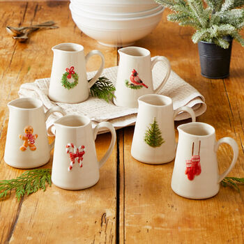 Mini Holiday Pitchers (Set of 6)