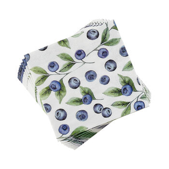 Blueberry Cocktail Napkins