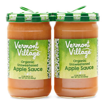 Unsweetened Apple Sauce (Organic) - 24 oz 2 pack