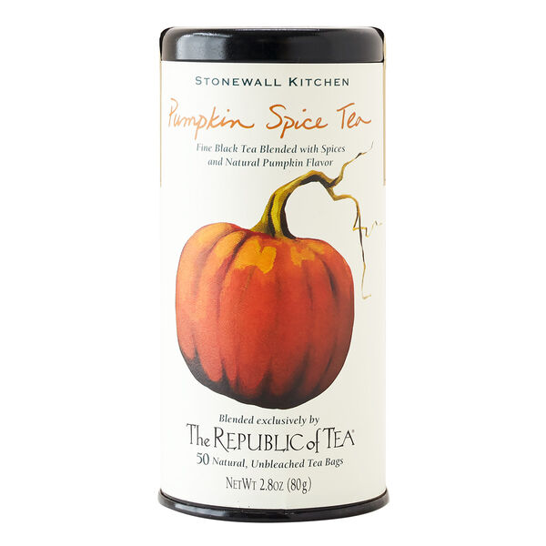 Enjoy the taste of autumn in a tea! Take the chill out of crisp days or nights with this exclusive blend of fine black tea and flavorful fall spices including cinnamon, ginger, nutmeg and cloves. Add a splash of warm milk and this tea transforms into a pumpkin pie in a cup!