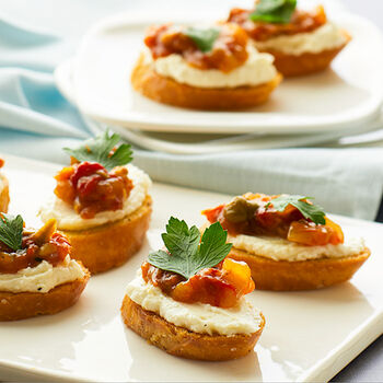Sun Dried Tomato Olive Crostini