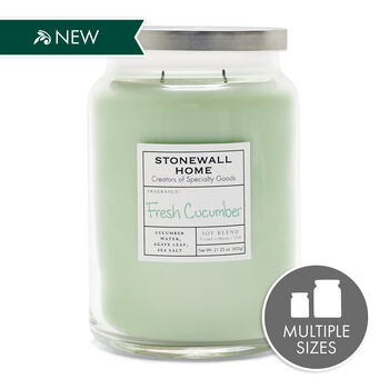 Stonewall Home Fresh Cucumber Candle Collection