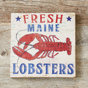 Fresh Maine Lobsters Sign