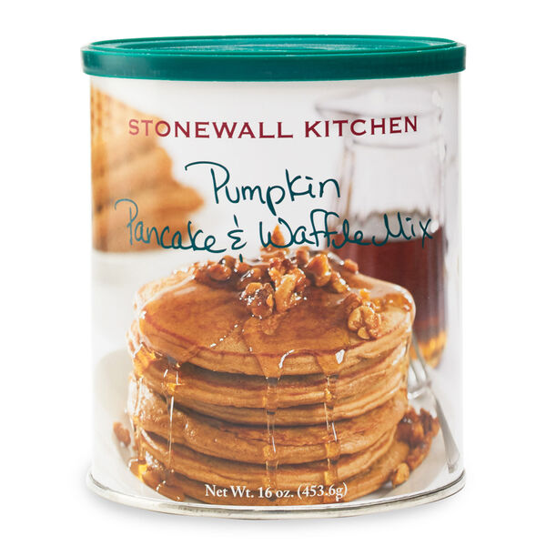 The crisp fall air brings to us a sudden yearning for pumpkin flavors. Satisfy your craving as soon as you wake up in the morning. Stonewall Kitchen Pumpkin Pancake & Waffle Mix cooks up light and fluffy and is the perfect blend of spices and pumpkin. What better way to start any day?