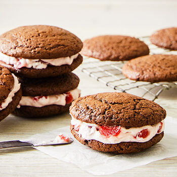 Chocolate Cherry Whoopie Pies
