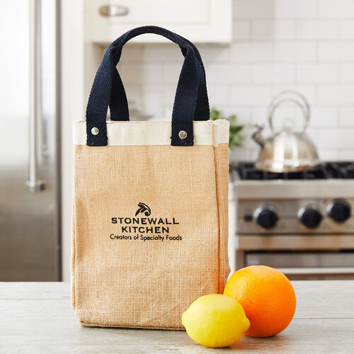 Small Jute Market Tote with Logo