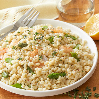 Lemon Scented Barley Risotto