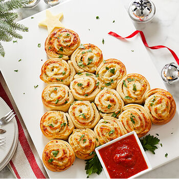 Christmas Tree Garlic Knots
