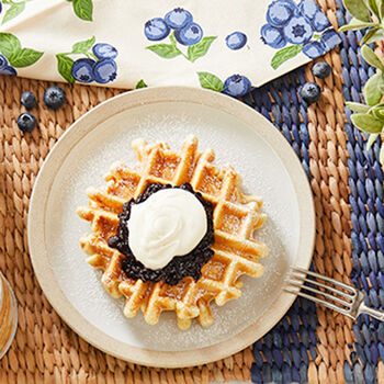 Maine Blueberry & Cream Waffles