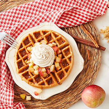 Gluten Free Brown Sugar Waffles with Cinnamon Apple Topping