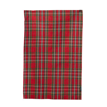 Holiday Red Plaid Tea Towel