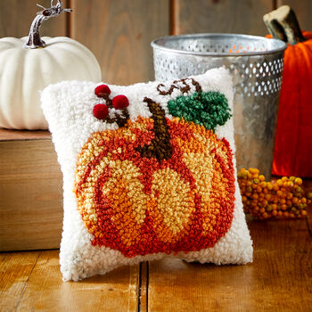 Pumpkin Hooked Pillow