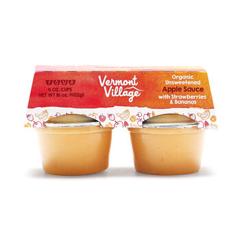 Strawberry Banana Apple Sauce (Org.) - 4 oz. Cups