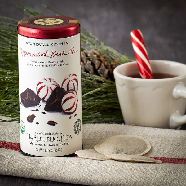 Enjoy one of the season's greatest flavor combinations, peppermint and chocolate, in a unique and delicious herbal tea. Warm and satisfying, it's wonderful to enjoy by a roaring fire on a cold winter night.