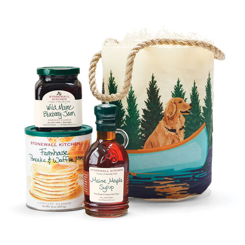 Sea Bags® Dog & Blue Canoe Bucket Breakfast Gift