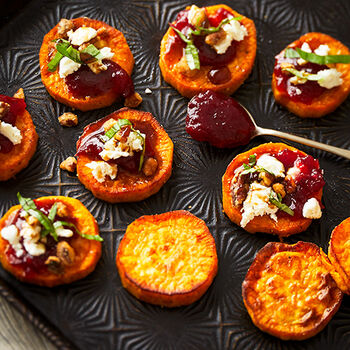 Cranberry Sweet Potato Rounds