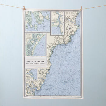 Nautical Chart Tea Towel