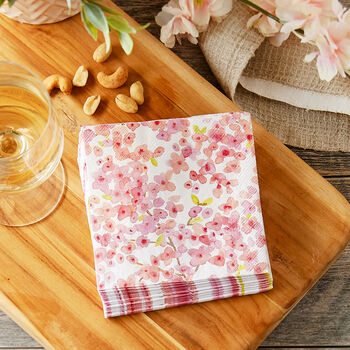 Cherry Blossom Cocktail Napkins