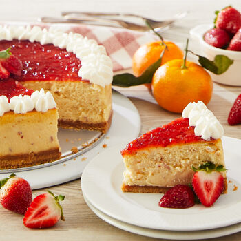 Tangerine Strawberry Marmalade Cheesecake