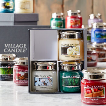 Custom Village Candle Gift