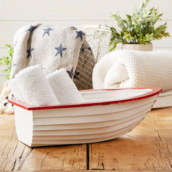 Red, White & Blue Fishing Boat