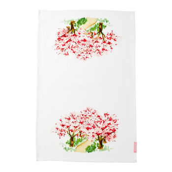 Cherry Blossom Tea Towel