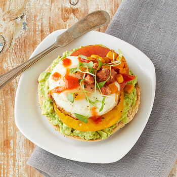 Mexican Breakfast Bagel