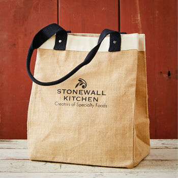 Jute Market Tote with Logo