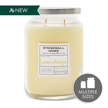 Stonewall Home Lemon Meringue Candle Collection