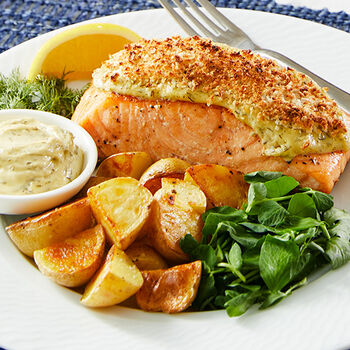 Legal Sea Foods Panko Crusted Salmon