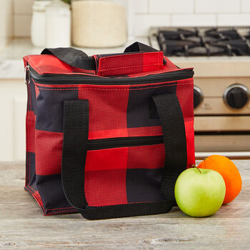 Buffalo Check Insulated Lunch Tote